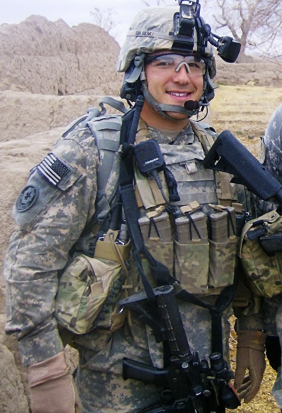 U.S. Army First Lieutenant Daren M. Hidalgo, 24, of Waukesha, Wisconsin, assigned to 3rd Squadron, 2nd Stryker Cavalry Regiment, based in Vilseck, Germany, died on February 20, 2011, in Kandahar province, Afghanistan, from wounds suffered when insurgents attacked his unit with an improvised explosive device. Two weeks prior to his death, he was hit by an earlier improvised explosive device. Despite his injuries, he stayed in country and on patrols rather than return home. He is survived by his father Jorge, mother Andrea, brothers Miles and Jared, and sister Carmen.